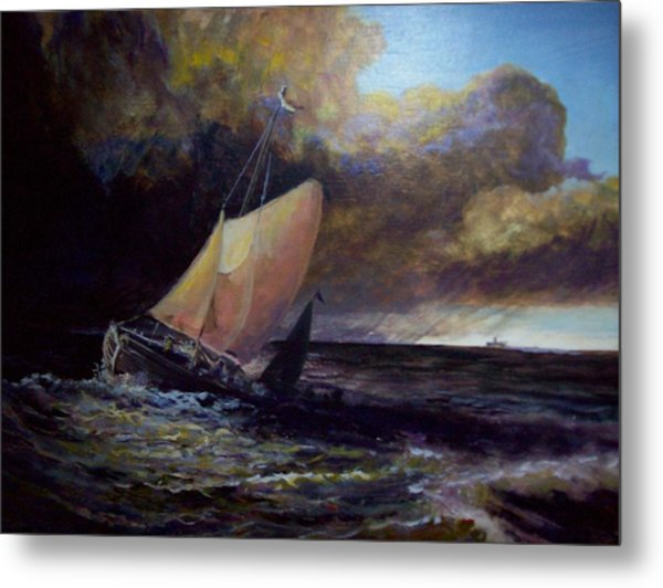 Approaching Gale  After Turner Metal Print