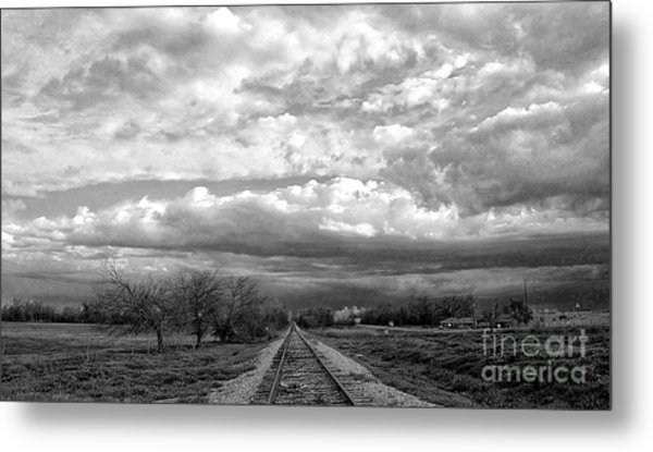 Approaching Troubled Time  Metal Print