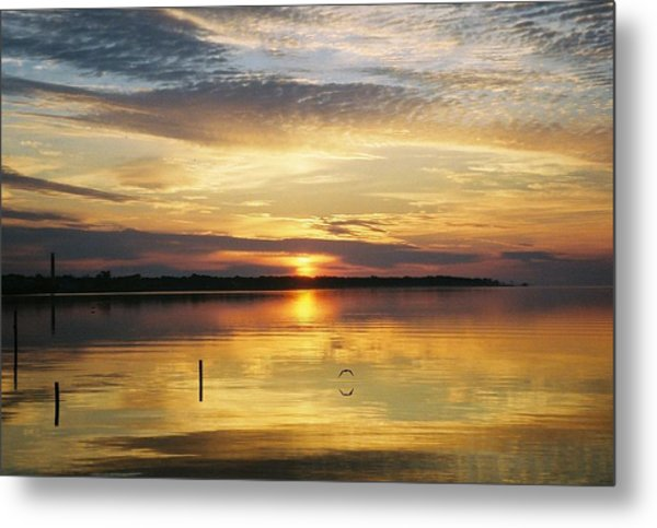 April Reflections Metal Print