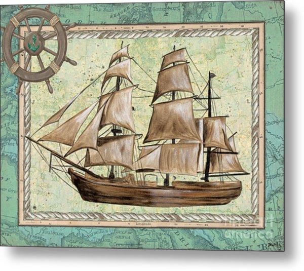 Aqua Maritime 1 Metal Print