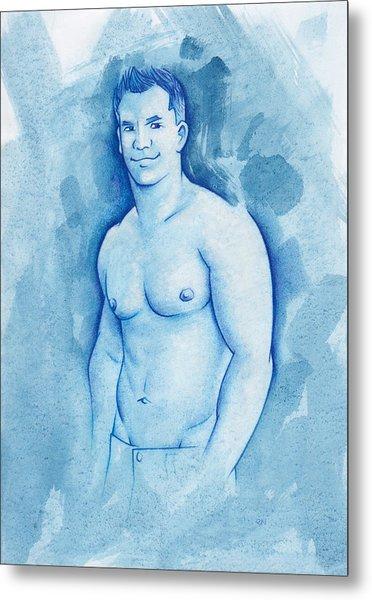 Aqua Metal Print by Rudy Nagel
