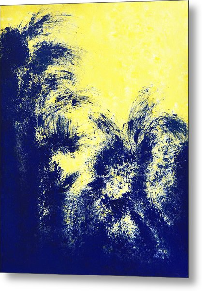 Aquamarine Blue Painting Metal Print