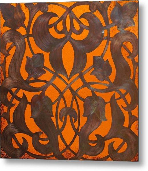 Arabesque Window Passage Metal Print