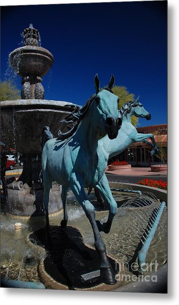 Arabian Horse Sculpture Metal Print
