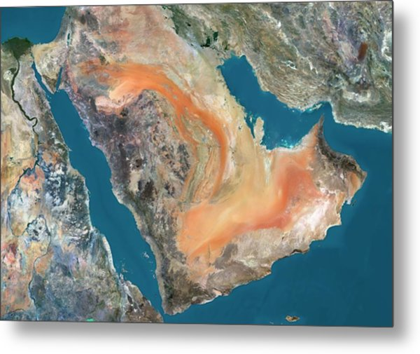 Arabian Peninsula Metal Print