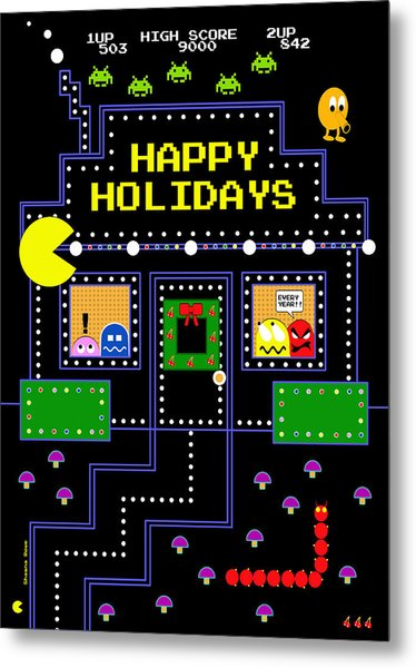 Arcade Holiday Metal Print