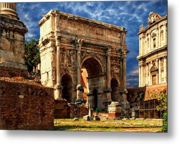 Arch Of Septimius Severus Metal Print