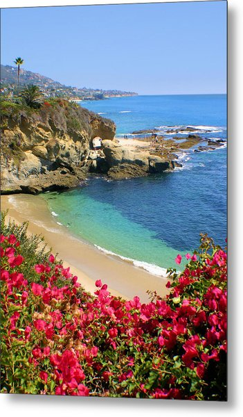 Arch Rock And Beach Laguna Metal Print