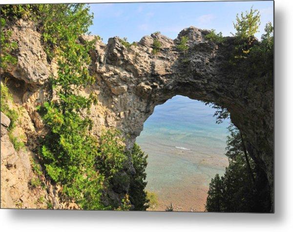 Arch Rock In Mackinac Island State Park Metal Print