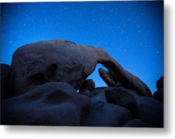 Arch Rock Starry Night 2 Metal Print
