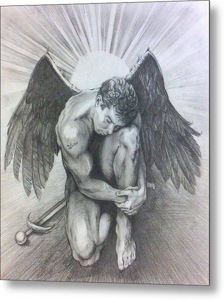 Archangel Michael Metal Print by Karina Griffiths