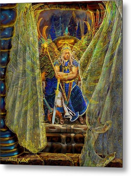 Archangel Michael-angel Tarot Card Metal Print