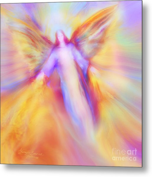 Archangel Uriel In Flight Metal Print