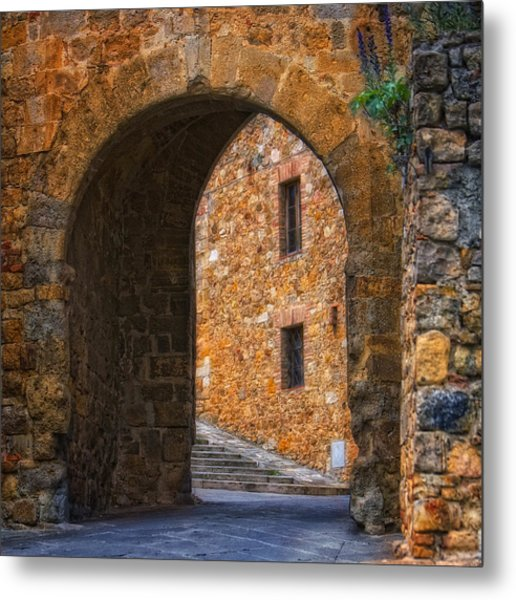 Arched Stone With Staircase Metal Print