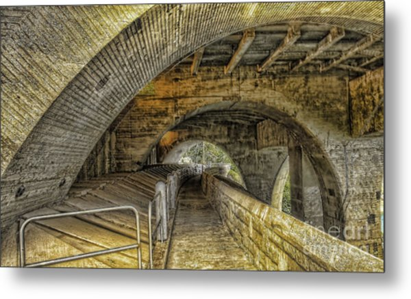 Arched Walkway Metal Print