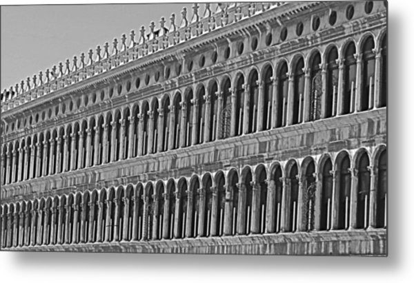 Arches And Columns In Piazza San Marco Metal Print