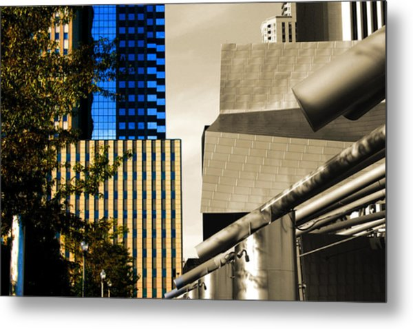 Architectural Crumpled Steel Gehry Metal Print