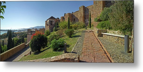 Architectural Detail Of Alcazaba Fort Metal Print