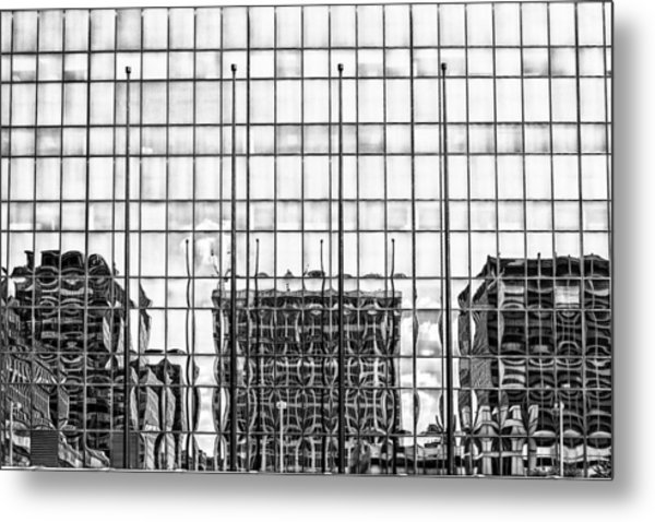 Architectural Reflection Metal Print