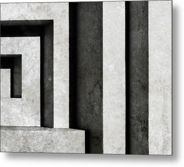 Architectural Signs II Metal Print by Luc Stalmans