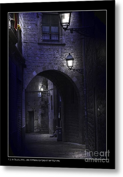 Archway To The Square Of St. Philip Neri's Metal Print