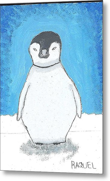 Arctic Penguin Metal Print by Fred Hanna