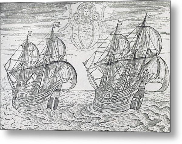 Arctic Phenomena From Gerrit De Veer S Description Of His Voyages Amsterdam 1600 Metal Print