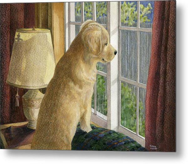 Are They Home Yet? Metal Print