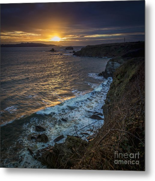 Ares Estuary Mouth Galicia Spain Metal Print