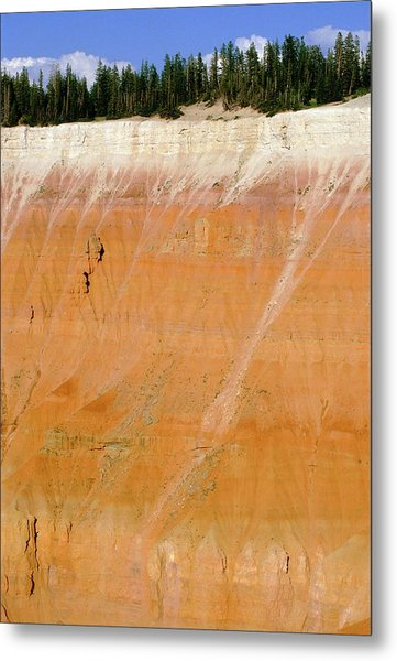 Arid Erosion In Parallel Bedded Sandstones Metal Print