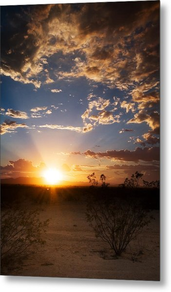 Arizona Desert Sunset Metal Print