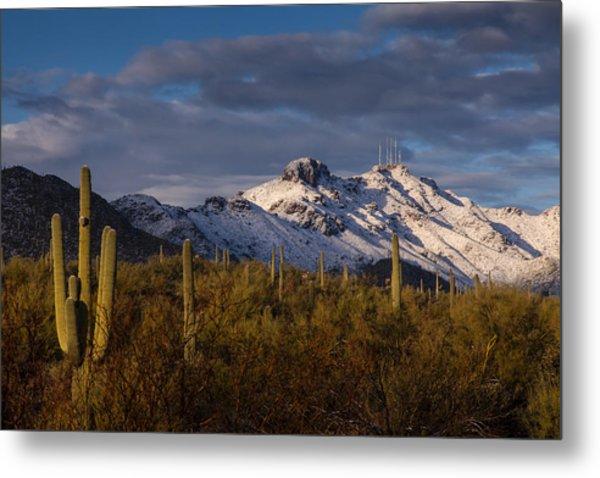 Arizona Mountains In Snow Metal Print