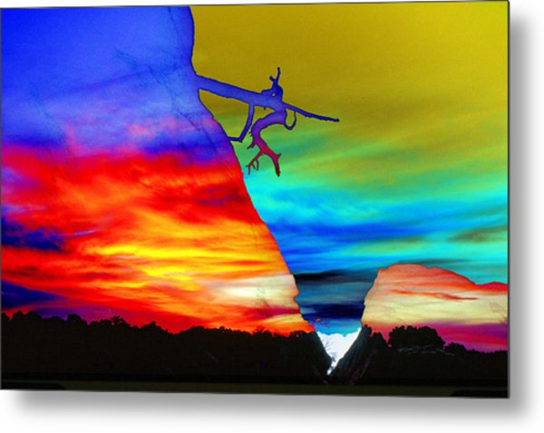 Arizona Sunset Collage Metal Print