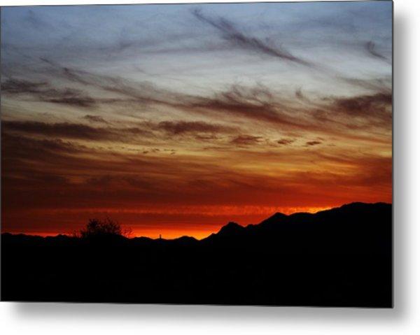 Arizona Sunset Skies Metal Print