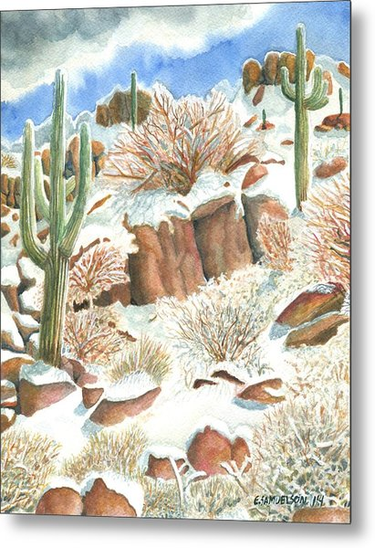 Arizona The Christmas Card Metal Print
