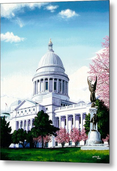 Arkansas Capitol Blossoms Metal Print