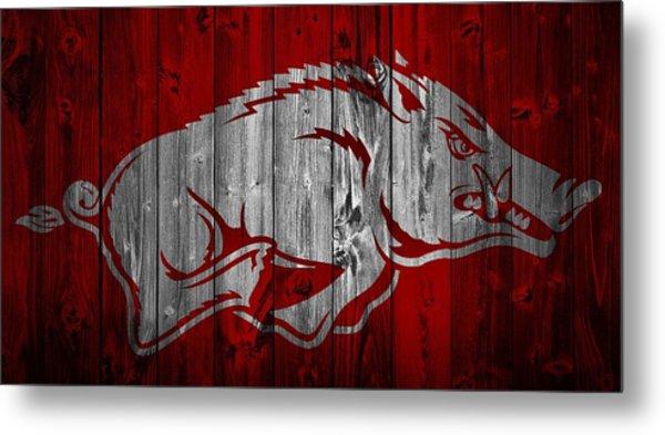 Arkansas Razorbacks Barn Door Metal Print
