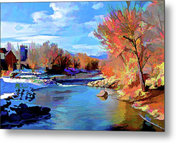 Arkansas River In Salida Co Metal Print