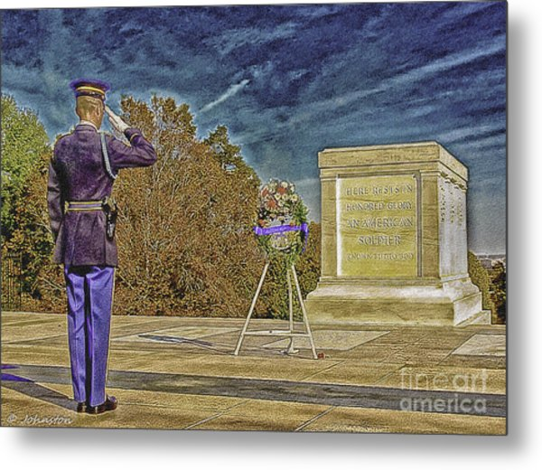 Arlington Cemetery Tomb Of The Unknowns Metal Print