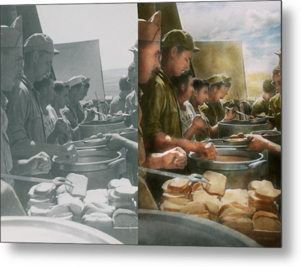 Army - Another Potato Please - Side By Side Metal Print