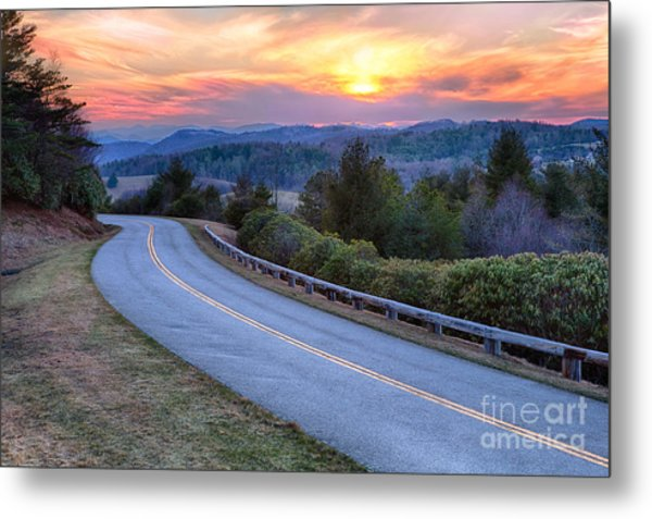 Around The Bend - Blue Ridge Parkway Metal Print