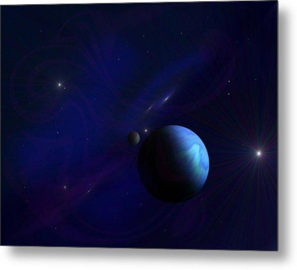 Around The Cosmos Metal Print by Ricky Haug