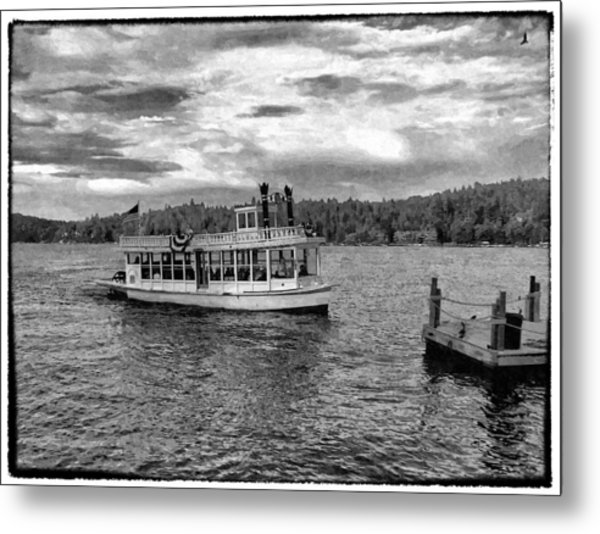 Arrowhead Queen Paddlewheel Boat Metal Print