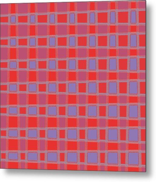 Art 1906 Elegant Graphic Pattern Squares Colorful Digitalart Graphicart Surface Texture Design Multi Metal Print