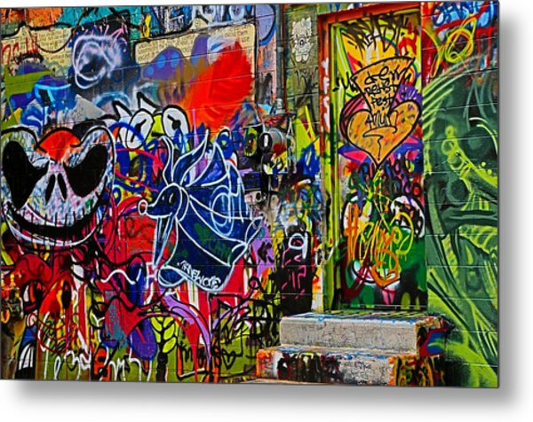 Art Alley Three Metal Print