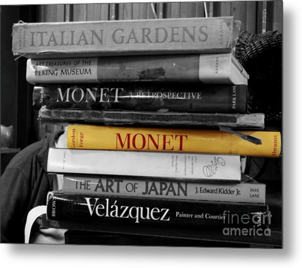 Art Books Metal Print