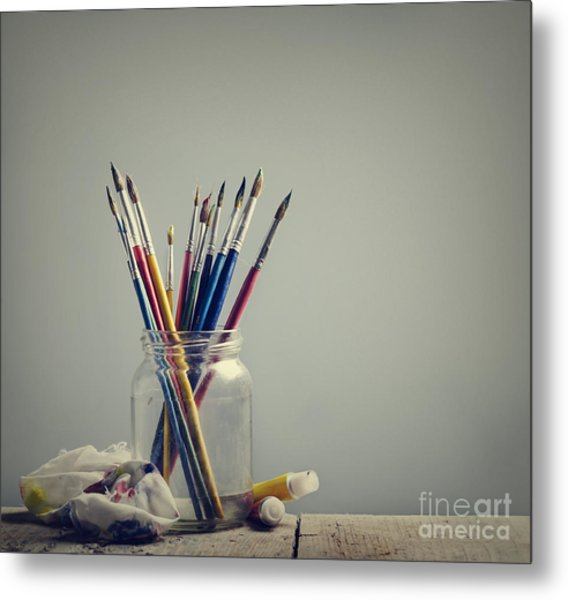 Art Brushes Metal Print