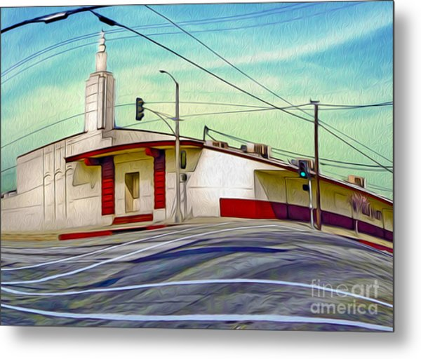 Art Deco Building - Pomona Ca Metal Print