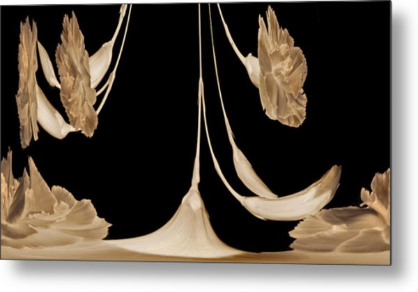 Art Deco Carnations Metal Print