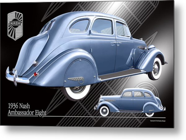 Art Deco Nash Metal Print